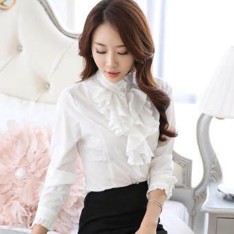 bottoming 1507162152 88051794 5668d9a42af39cb95efc4e6eb73736d7 product ขายด่วน บวกกำมะหยี่หญิงแขนยาวหนา bottoming เสื้อคอปกเสื้อเชิ้ตสีขาว  สีขาว
