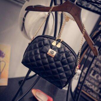 เปรียบเทียบราคา BT กระเป๋า กระเป๋าสะพาย กระเป๋าสะพายพาดลำตัว Women Shoulder bag-Black