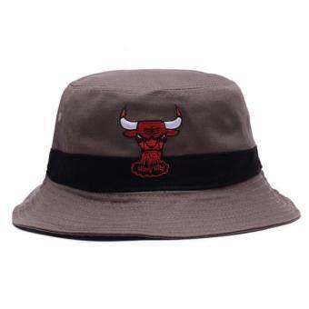 หมวกบักเก็ต Bulls น้ำตาล