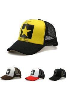Buytra เท่สวมหมวกเบสบอลชายหญิงกีฬาฮิปฮอป (สีแดง)