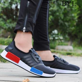 Bylcasual Walking รองเท้าผ้าใบ Sports รองเท้า popheko (สีดำ)