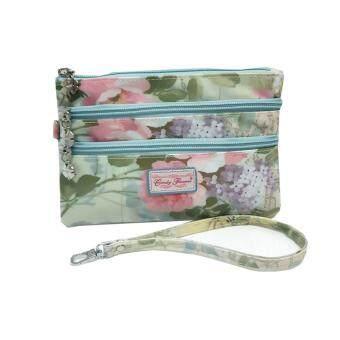 Candy Flowers กระเป๋าคล้องแขนขนาดเล็กลายวินเทจสำหรับผู้หญิง รุ่น S248-CF358 (สีฟ้า)