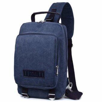 สนใจซื้อ กระเป๋าสะพายข้างผ้าแคนวาส กระเป๋าเป้ผ้าแคนวาส กระเป๋าผ้าแคนวาสกระเป๋าแคนวาส CANVAS-01 สีน้ำเงิน