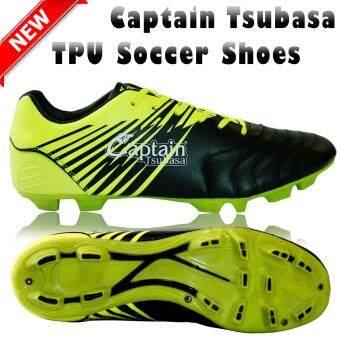 Captain Tsubasa Soccer Shoes รองเท้ากีฬาฟุตบอล รองเท้าฟุตบอล สตั๊ด Black/Yellow (TR070)