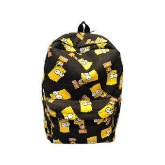 Harga Cartoon Simpson Printting Canvas Backpacks