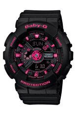 Casio Baby-G Women's BLACK Resin Strap Watch BA-111-1A
