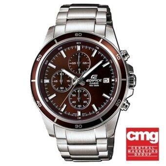 CASIO EDIFICE นาฬิกาข้อมือผู้ชาย สีเงิน สายสแตนเลส รุ่น EFR-526D-5AVUDF ประกันศูนย์CMG1ปี