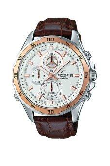 Casio Edifice นาฬิกาข้อมือผู้ชาย สายหนัง รุ่น EFR-547L-7A - Brown/White