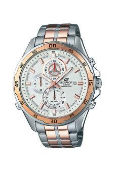 Casio Edifice นาฬิกาข้อมือผู้ชาย สายสเตนเลส รุ่น EFR-547SG-7A - Silver/Gold