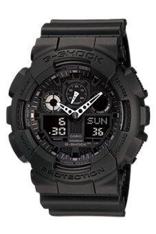 Casio G-Shock นาฬิกาข้อมือผู้ชาย สายเรซิ่น รุ่น GA-100-1A1 - Black