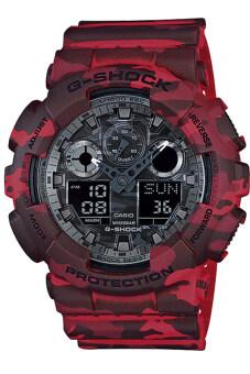 รีวิว Casio G-Shock นาฬิกาข้อมือผู้ชาย ลายพรางสีแดง สายเรซิน รุ่นGA-100CM-4ADR