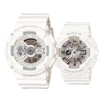 เปรียบเทียบราคา Casio G-Shock GA-110BC-7A และเด็กปลอดจีสอง BA-110-7A3ยางรัดนาฬิกาขาว
