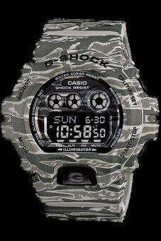 Casio G-Shock นาฬิกาผู้ชาย สีเทาลายพราง สายเรซิน รุ่น GD-X6900CM-8DR