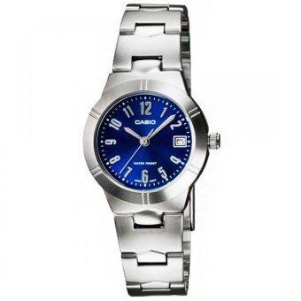 Casio นาฬิกาข้อมือ รุ่น LTP-1241D-2A2 (Silver/Blue)