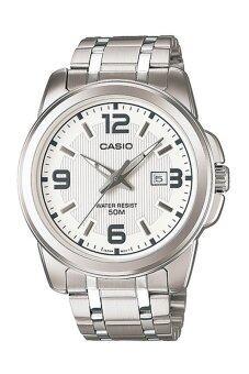 ราคา Casio นาฬิกาข้อมือสุภาพบุรุษ สีเงิน สายสแตนเลสสตีล รุ่น MTP-1314D-7AVDF
