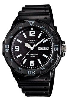 Casio นาฬิกาข้อมือผู้ชายสายเรซิ่นรุ่น MRW-200H-1B2VDF - สีดำ