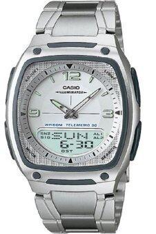 Casio Standard นาฬิกาข้อมือผู้ชาย สีเงิน สายสแตนเลส รุ่น AW-81D-7AVDF