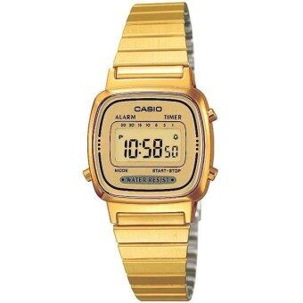 Casio Standard นาฬิกา- รุ่น LA-670WGA-9 สีทอง/หน้าปัดทอง