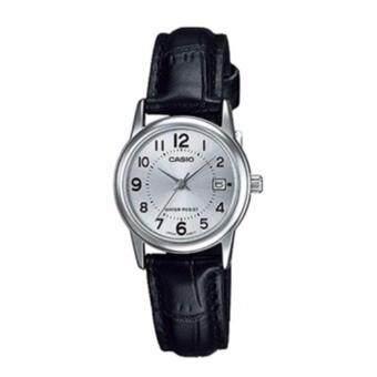 Casio Standard นาฬิกาข้อมือ สีดำ/ขาว สายหนัง รุ่น LTP-V002L-7BUDF