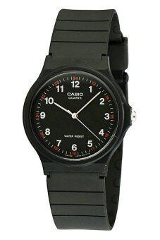 ขายด่วน Casio Standard นาฬิกาข้อมือผู้ชาย สีดำ สายเรซิ่น MQ-24-1BLDF