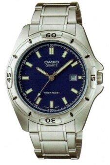 Casio Standard นาฬิกาข้อมือ คาสิโอ สายสแตนเลส รุ่น MTP-1244D-2ADF - สีเงิน