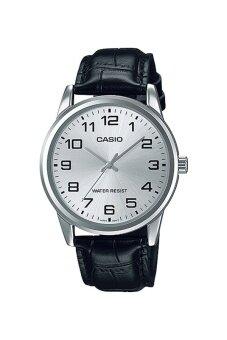 Casio Standard นาฬิกาข้อมือ สีขาว สายหนัง รุ่น MTP-V001L-7BUDF