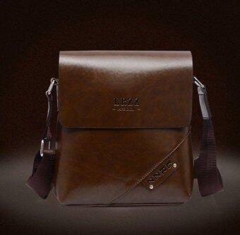กระเป๋าสะพายหนังแท้หนังสบายกระเป๋ากระเป๋ากระเป๋านักเรียนชายคนหนึ่งนำกระเป๋าสะพายธุรกิจ (สีน้ำตาล)