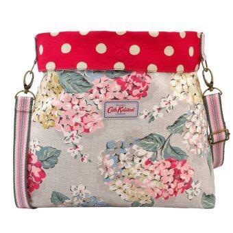 Cath Kidston Reversible Folded Messenger Bag 16SS Hydrangea & Polka Button Spot Pattern Colour Oat 558327