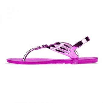 Chemistry® ZADA Womens Roman Gladiator Thong Flat Sandals Adjustable Ankle Strap Shoes US Pink) - intl