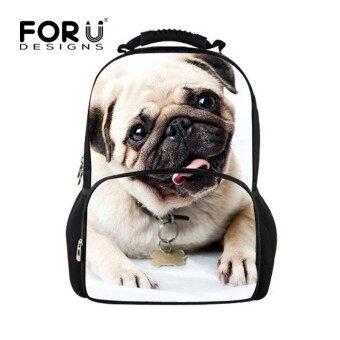 Children School Backpack 3D Printing Dog Backpack for Teenager GirlsCool Women Laptop Bagpack Casual Teenage Girls Backbag - intl