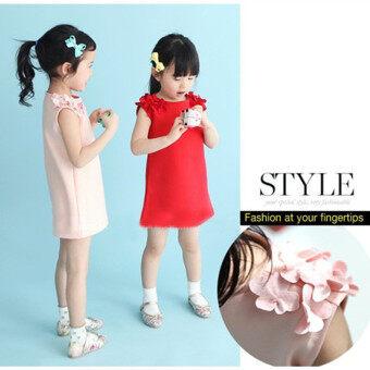 Children's summer dress fashion clothing explosion Princess Dresscute Korean girls skirt-pink - intl - 2