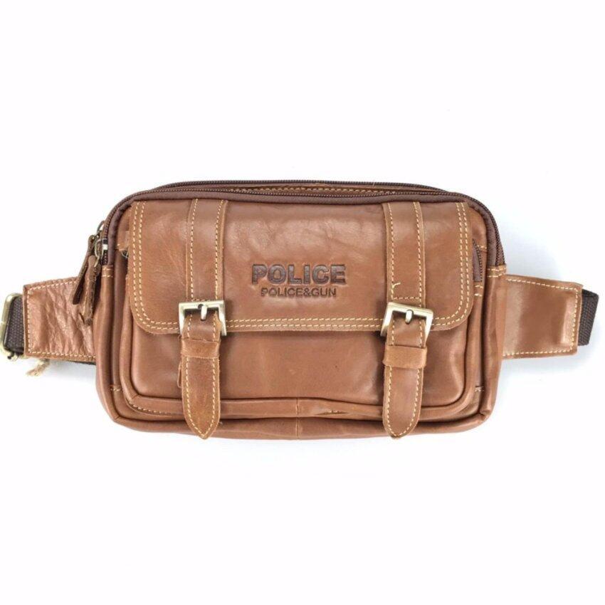 Chinatown Leatherกระเป๋าหนังวัวแท้สะพายหน้าอกหรือคาดเอวเข็มขัดคู่
