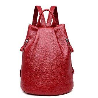 Chu JJ Fashion Womens Genuine Leather Backpacks Women Girls Students School Bag Shoulder Bags Women Casual Travel Bag - intl