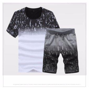 ชุดเสื้อ+กางเกงขาสั่นผู้ชาย ชุดเล่นน้ำผู้ชาย ชุดเที่ยวทะเลผู้ชาย