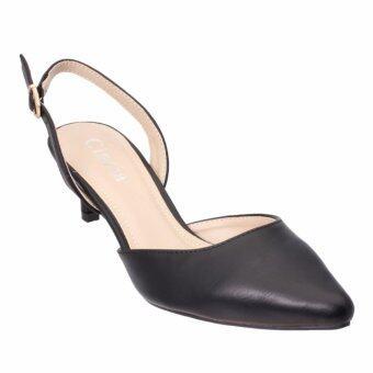 Cinzia รองเท้าส้นสูง รุ่น7299 สีดำ