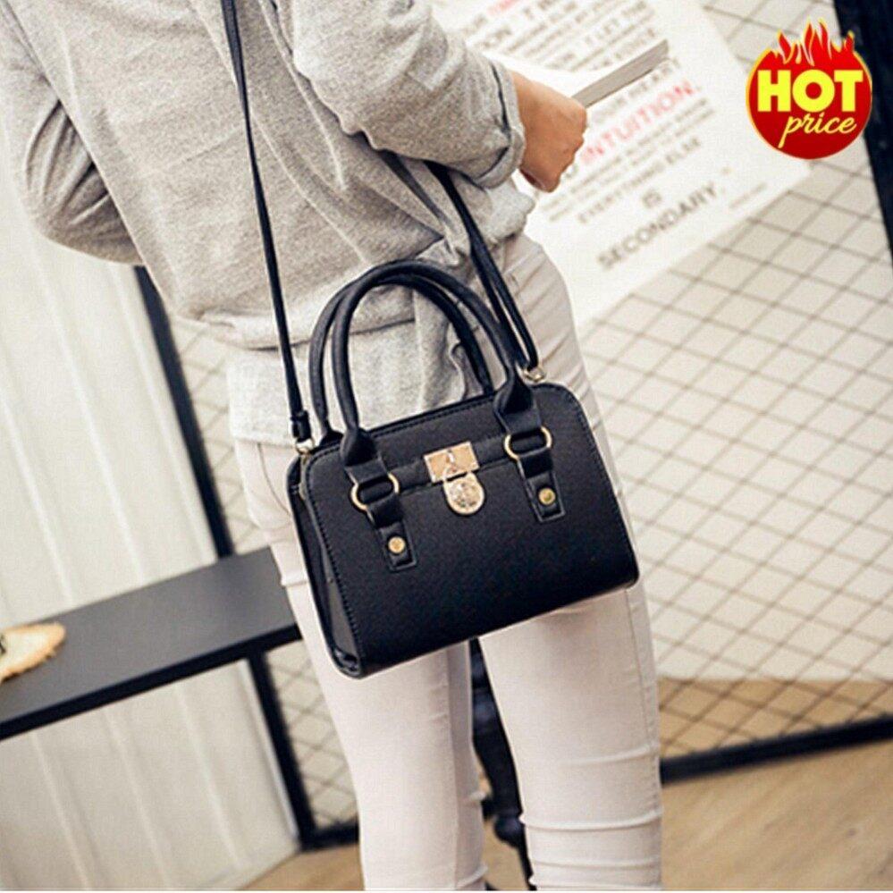 กระเป๋าเป้ นักเรียน ผู้หญิง วัยรุ่น ราชบุรี CK14 Women High Quality Leather Handbag กระเป๋าถือ กระเป๋าสะพายไหล่ กระเป๋าสะพายพาดลำตัว   Black