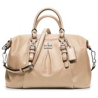 Coach กระเป๋าสะพายมีหูหิ้วสำหรับผู้หญิง รุ่น 21222 สีทราย
