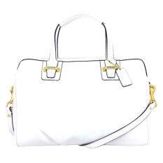 Coach กระเป๋าสะพายมีหูหิ้วสำหรับผู้หญิง รุ่น 25296 สีนวล