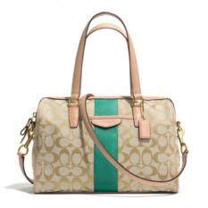 Coach กระเป๋าสะพายมีหูหิ้วสำหรับผู้หญิง รุ่น 28505 สีเขียว