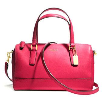 Coach กระเป๋าสะพายมีหูหิ้วสำหรับผู้หญิง รุ่น 49392 สีแดง