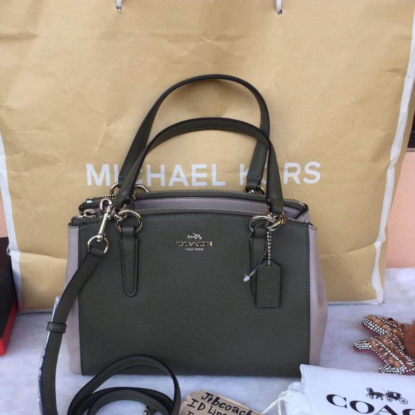 fb4c7fb7feaaa ... wholesale coach 57266 coach mini christie colorblock leather carryall  satchel grey birch 0c4fa 86038