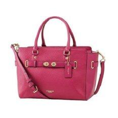 COACH BLAKE CARRYALL IN BUBBLE LEATHER รุ่น 35689 (Cranberry)