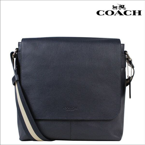 COACH กระเป๋าสุภาพบุรุษ CHARLES SMALL MESSENGER IN SPORT CALF LEATHER F72362 (Dark saddle )