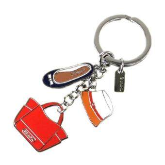 Coach Hat Shoe Tote Key Chain - Multicolor