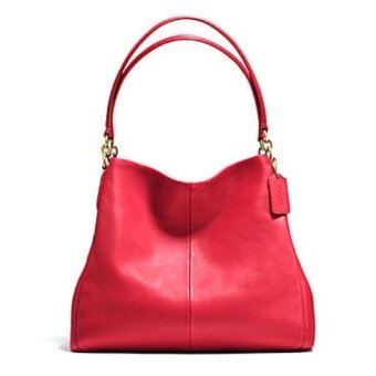Coach Leather Phoebe Shoulder Bag รุ่น 35723 - Classic Red