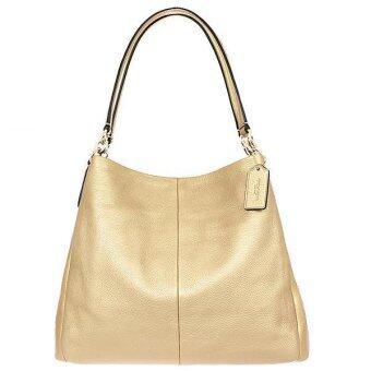 Coach Leather Phoebe Shoulder Bag รุ่น 35723 - Gold
