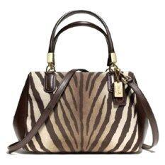 Coach Madison Mini Satchel Bag รุ่น 50507 - Zebra brown