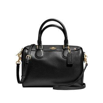 ลดราคา COACH กระเป๋าสะพายผู้หญิง MINI BENNETT COACH F57521 (GOLD/BLACK)