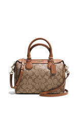 COACH MINI BENNETT SATCHEL IN SIGNATURE F36702 IMBDX (IM/Khaki/Saddle)