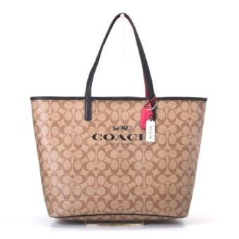 ประกาศขาย COACH PARK METRO SIGNATURE TOTE SHOULDER BAG รุ่น 32706 - Khaki